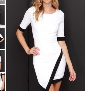 Sophisticated White Wrap around dress